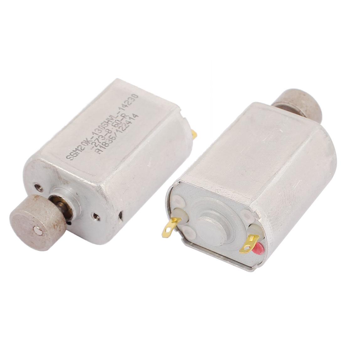 2Pcs DC 1.5-6V 12000RPM Large Torque Micro Vibration DC Motor for Electric Massage