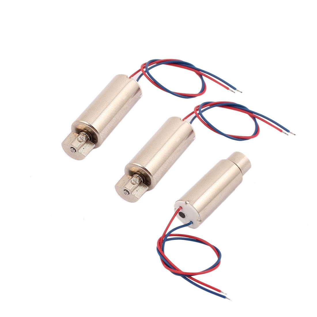 3Pcs DC 1.5V-4.5V 50000RPM High Speed Vibration Motor Magnetic 716 Coreless Motor