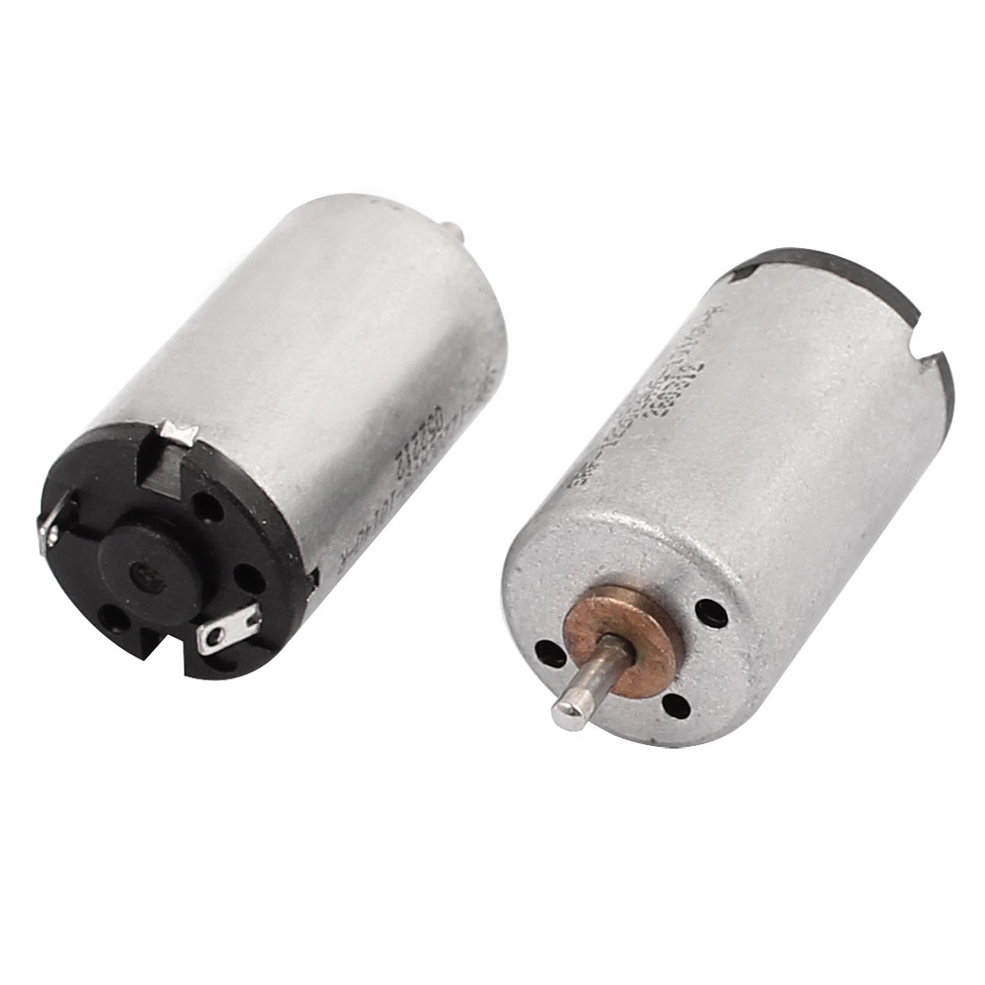 2Pcs DC 1.25-3.7V 22000RPM Large Torque Cylindrical Micro DC Motor for Electric Toy