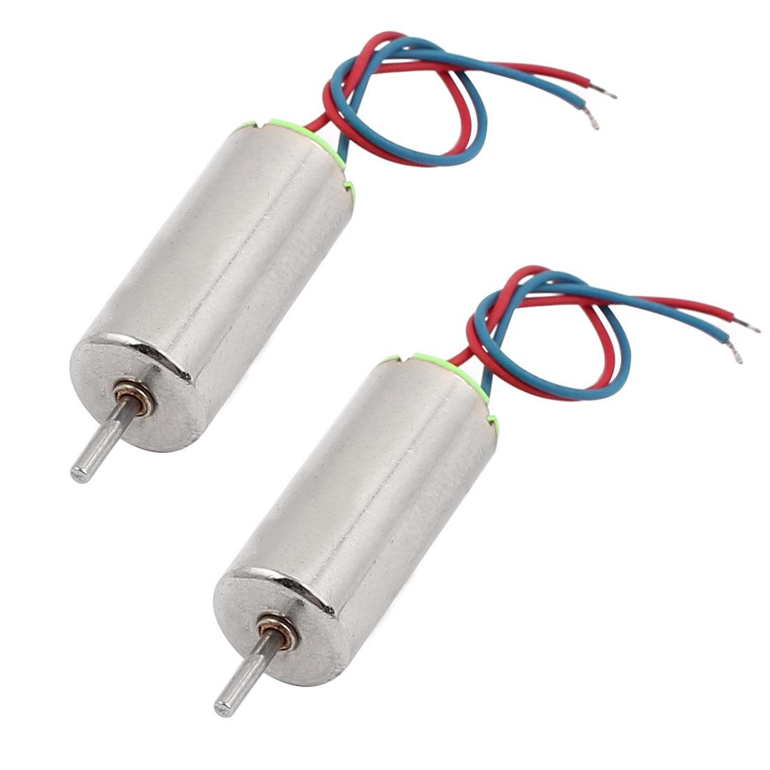2Pcs DC 1.5V-4.5V 50000RPM High Speed Mini Electric Coreless DC Motor for Model Toys