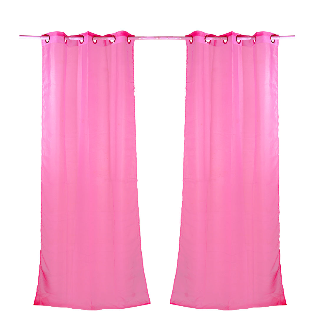 Home Decor Tulle Voile Window Drape Curtain Panel Divider Sheer Valances Pink