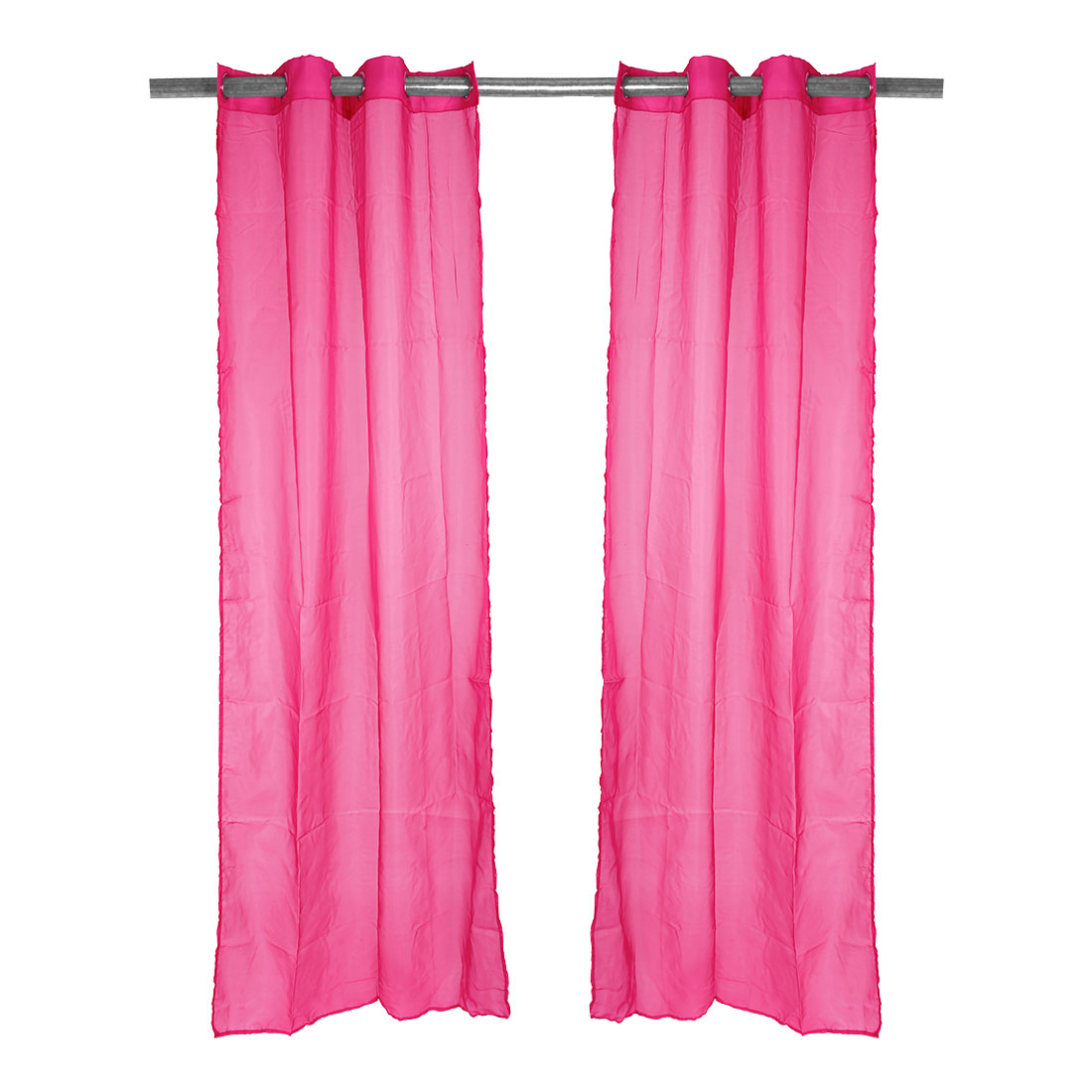 Home Decor Tulle Voile Window Drape Curtain Panel Divider Sheer Valances Fuchsia