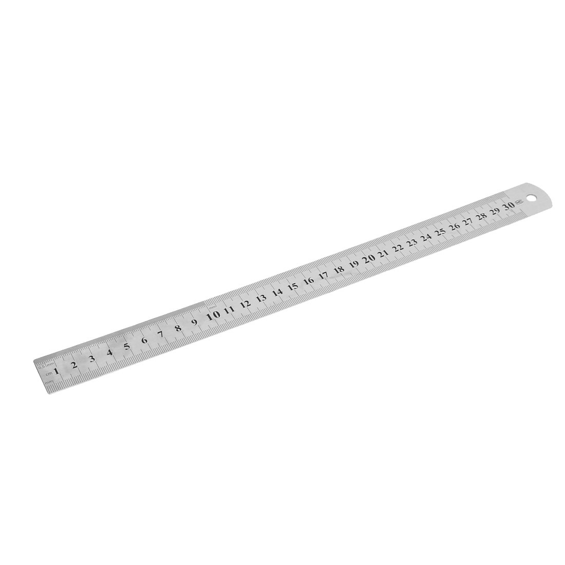 Classroom Double Side Stainless Steel Straight Ruler Measuring Tool 30cm Length