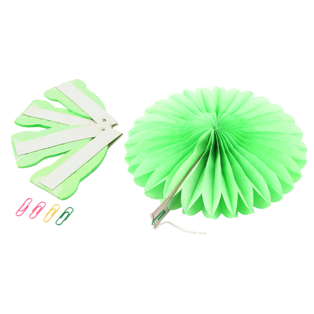 Tissue Paper Wedding Party Hanging Decoration Wheel Fan Honeycomb Flower Green 5pcs