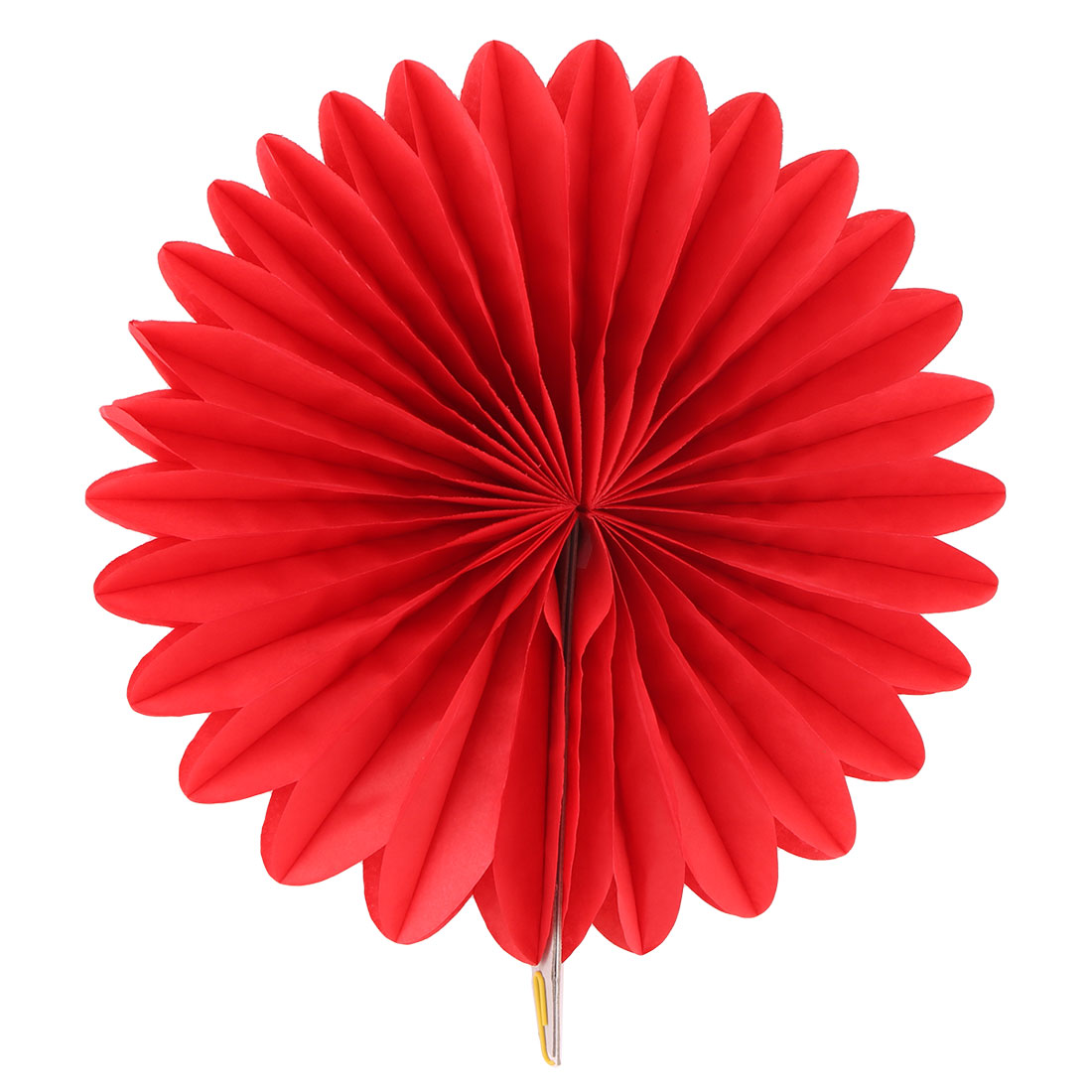Tissue Paper Wedding Party Hanging Decoration Wheel Fan Honeycomb Flower Red