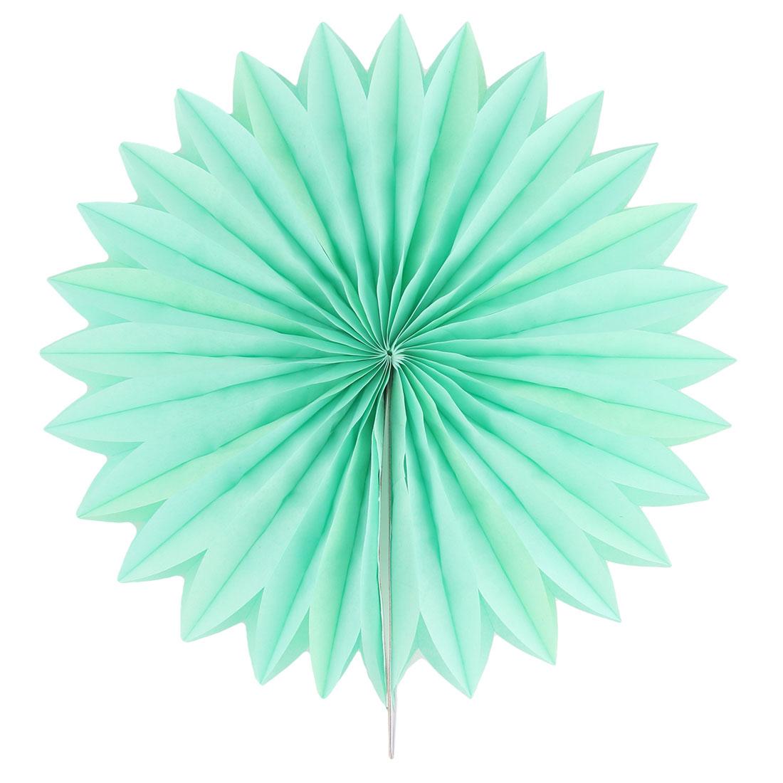 Tissue Paper Folding Fan Flower Green for Party Birthday Window Wedding Home Decor