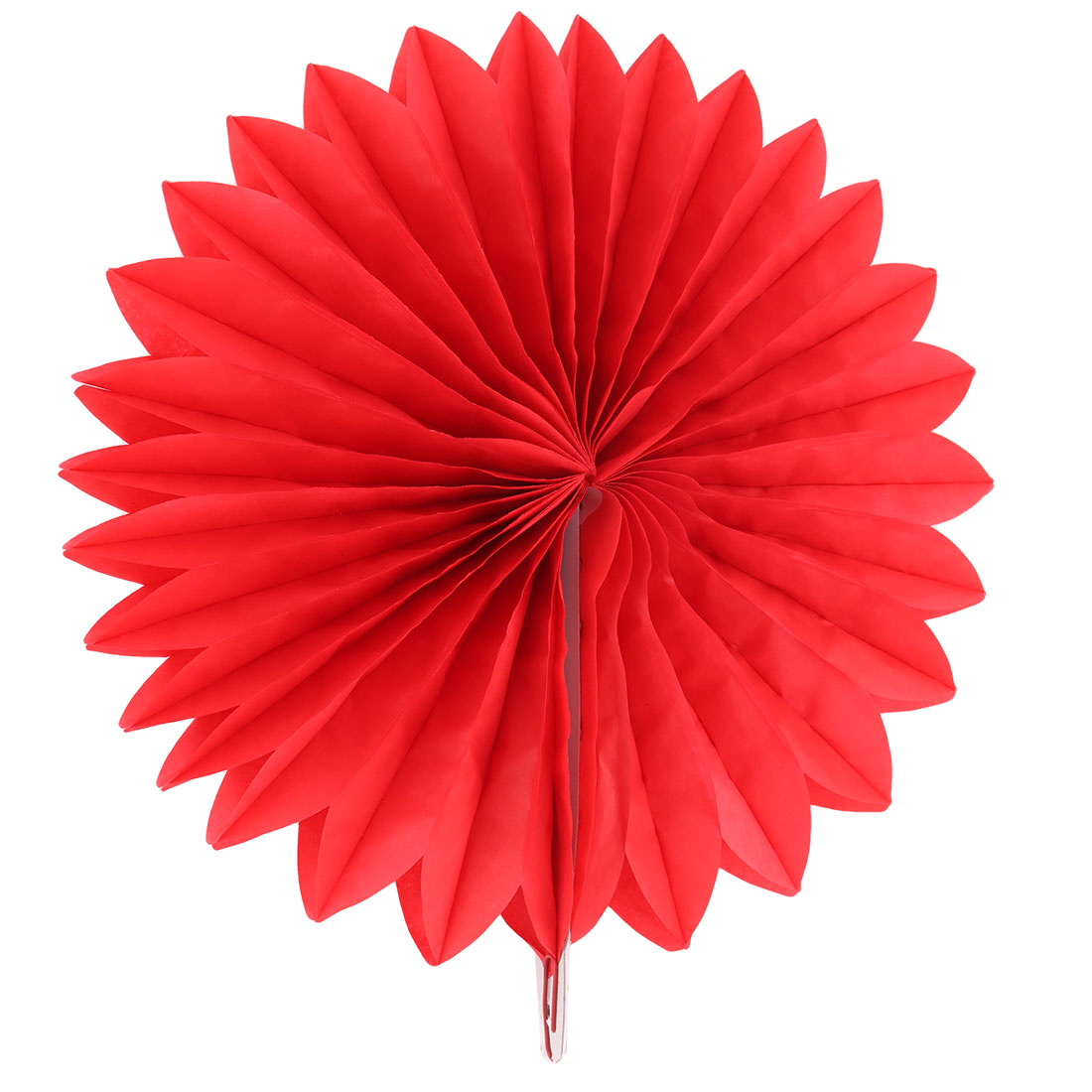 Paper Hollow Out Design Folding Fan Flower Red for Party Birthday Wedding Home Decor