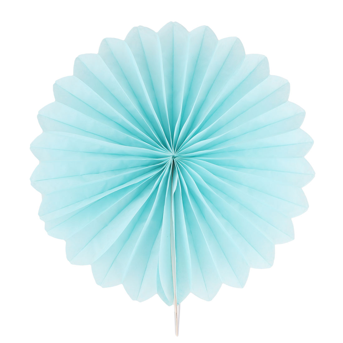 Paper Hollow Out Design Folding Fan Flower Blue for Party Birthday Wedding Home Decor