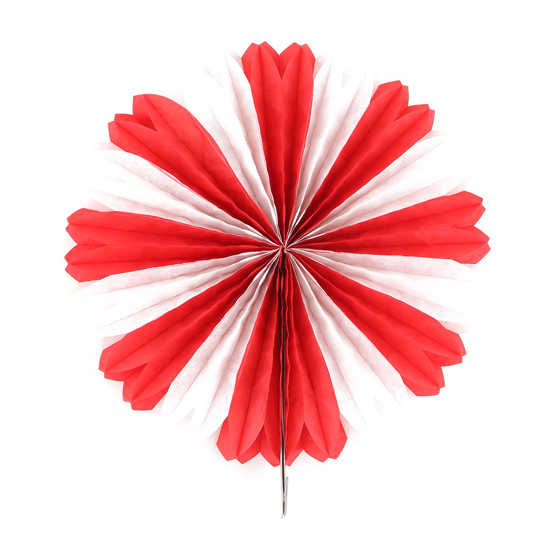 Paper Hollow Out Folding Fan Flower Red for Party Birthday Shower Festival Wedding Home Decor