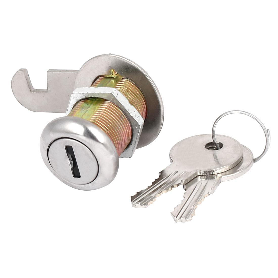 Desk Drawer Cabinet Keyed Alike Cam Lock 19mm x 30mm Thread w 2 Keys