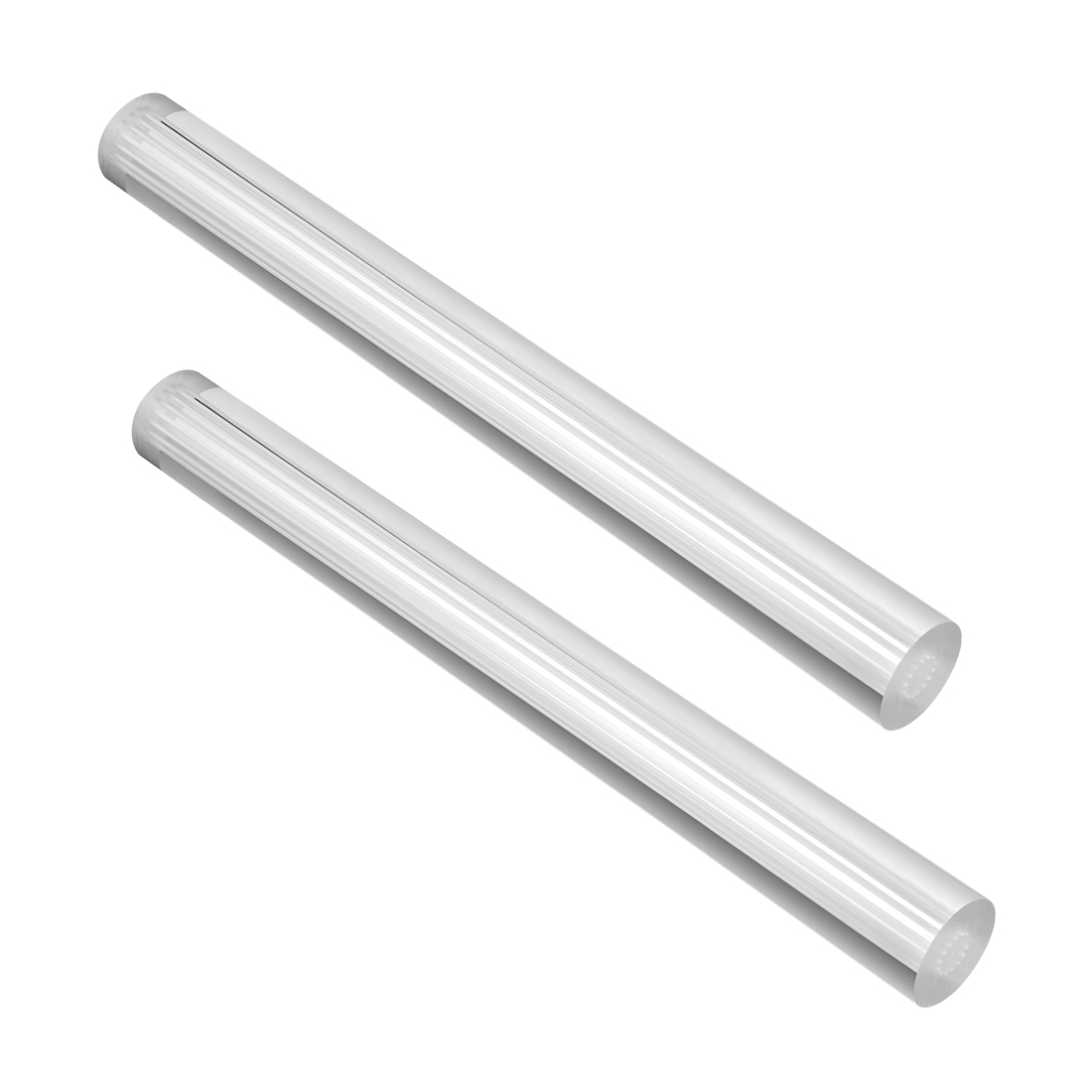 25mmx250mm Straight White Line Solid Acrylic Round Rods PMMA Bars 2pcs