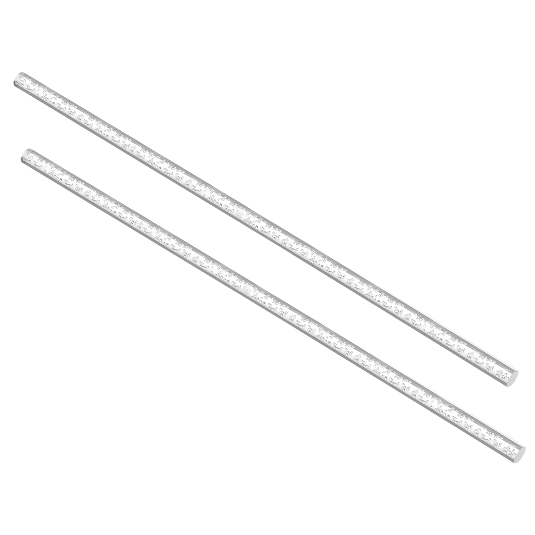 6mm Dia 250mm Long Air Bubble Acrylic Rod PMMA Circular Bar Clear 2pcs