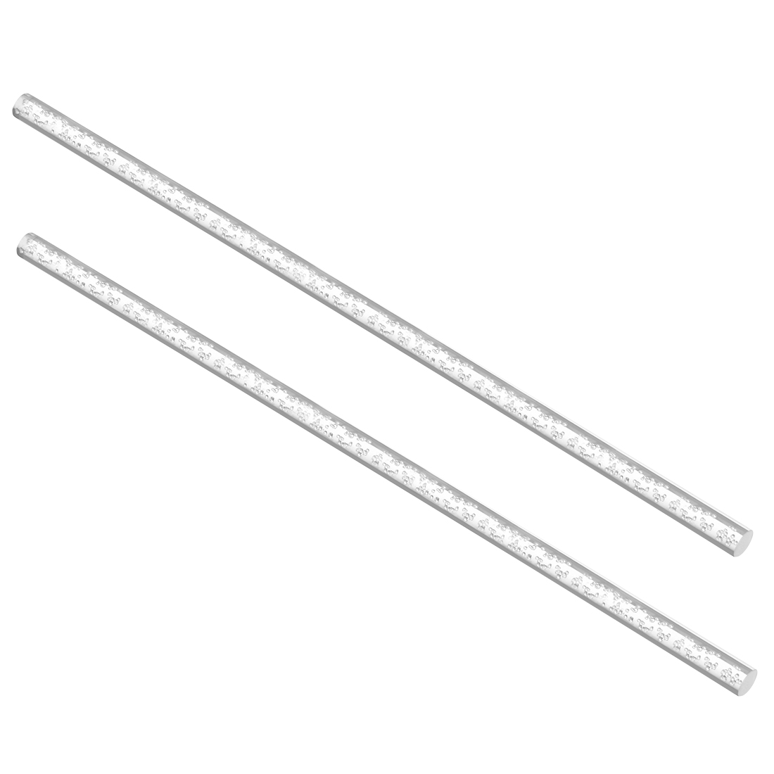 8mm Dia 250mm Long Air Bubble Acrylic Rod PMMA Circular Bar Clear 2pcs
