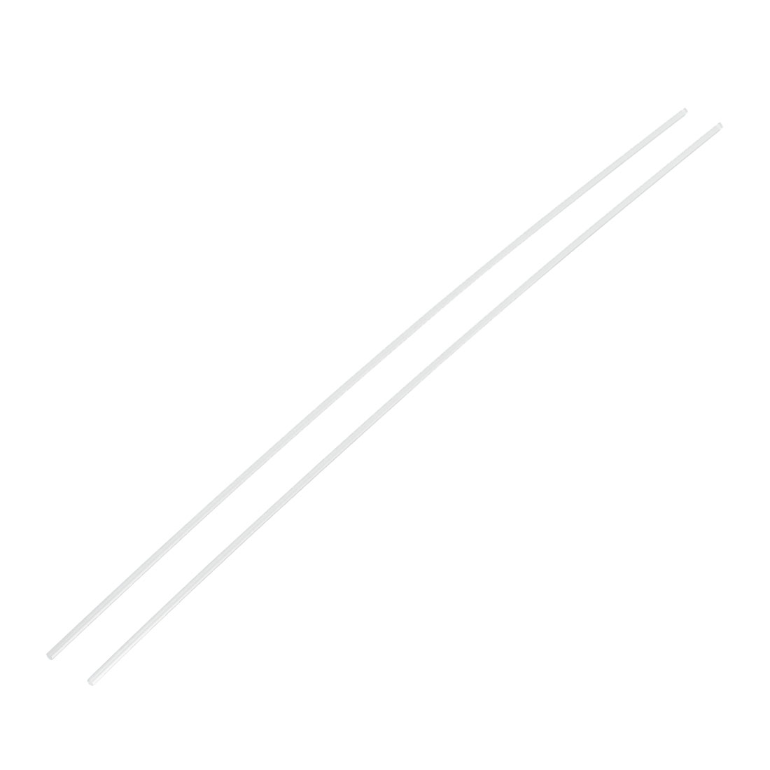2mmx250mm Round Shape Solid Acrylic Rod PMMA Extruded Bar Clear 2pcs