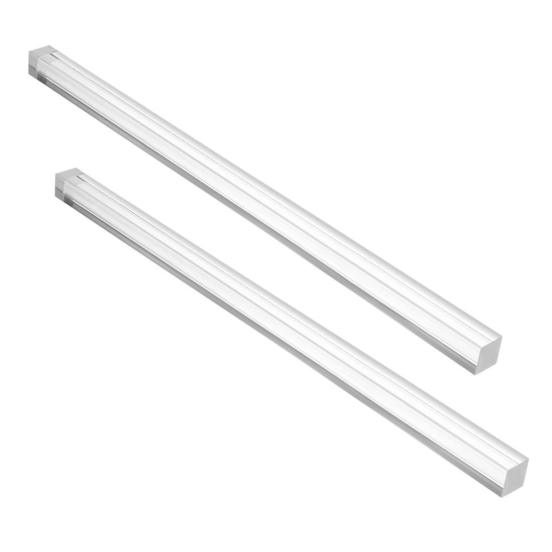 "12mmx12mm 10"" Long Acrylic Rectangular Shaped Rod PMMA Bar Clear 2pcs"