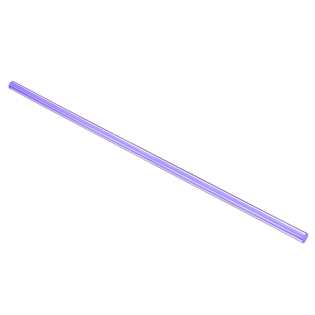 12mmx500mm Straight Light Purple Line Solid Acrylic Round Rod PMMA Bar