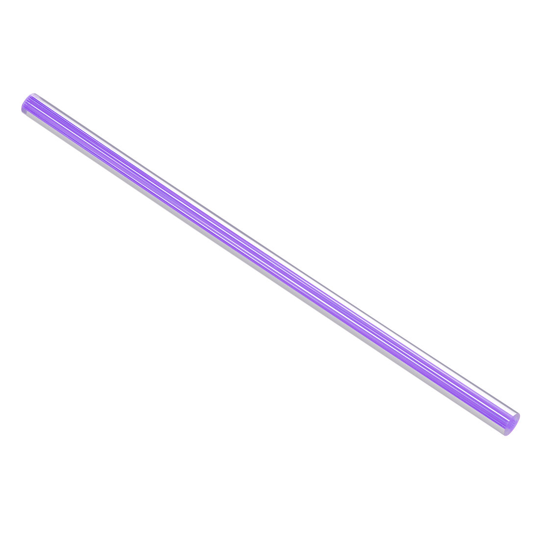 10mmx250mm Straight Light Purple Line Solid Acrylic Round Rod PMMA Bar