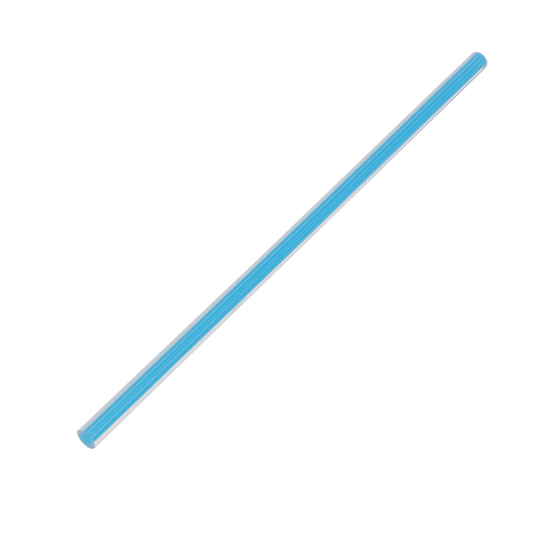 Straight Light Blue Line Solid Acrylic Round Rod PMMA Bar 250mmx8mm