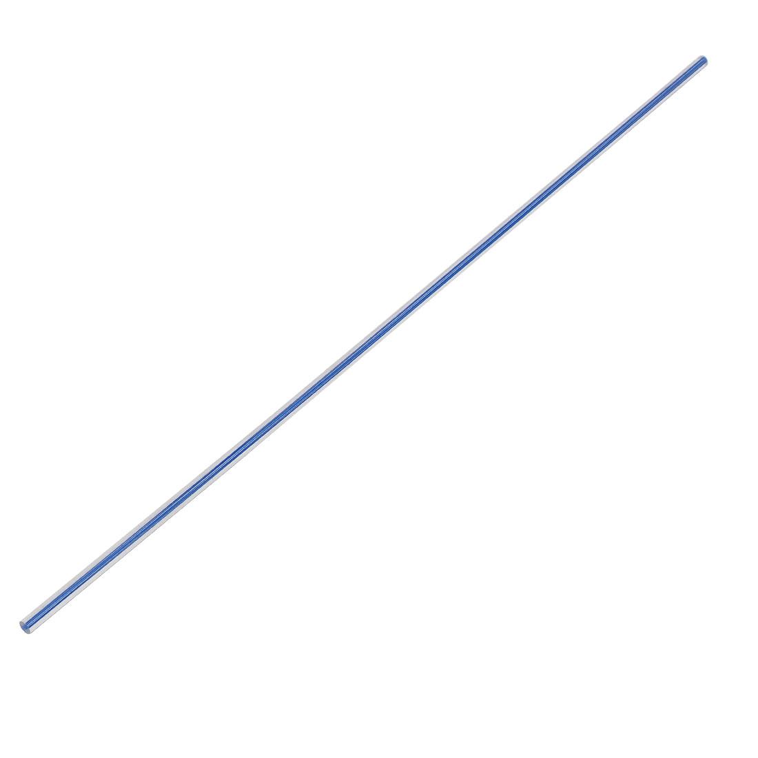 Straight Dark Blue Line Solid Acrylic Round Rod PMMA Bar 500mmx6mm