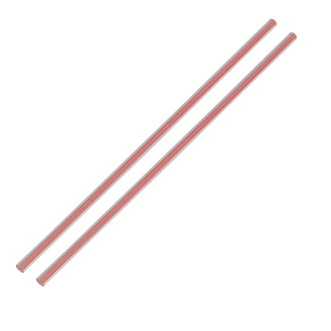 Straight Pink Line Solid Acrylic Round Rod PMMA Bar 250mmx6mm 2pcs