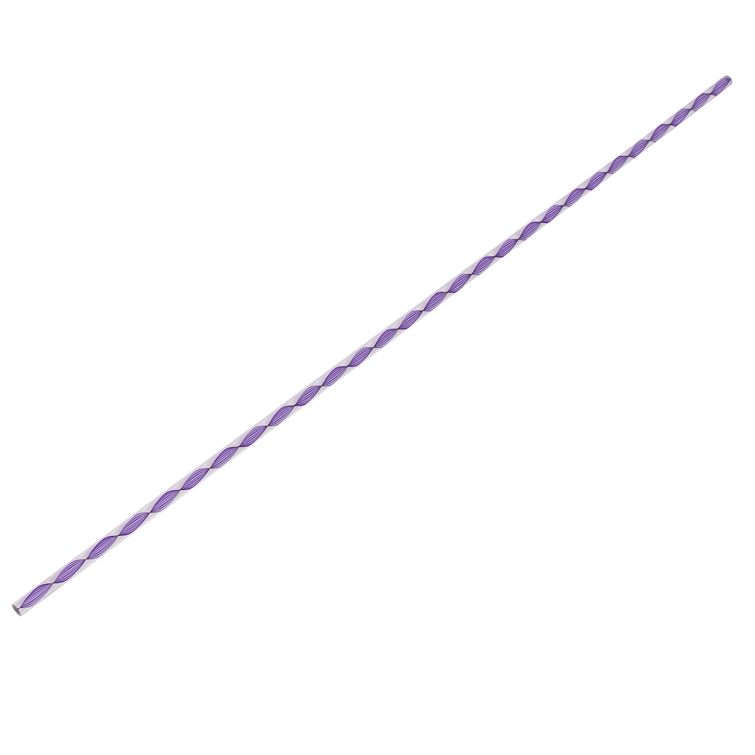 Twisted Dark Purple Line Soli Acrylic Round Rod PMMA Bar 500mmx6mm