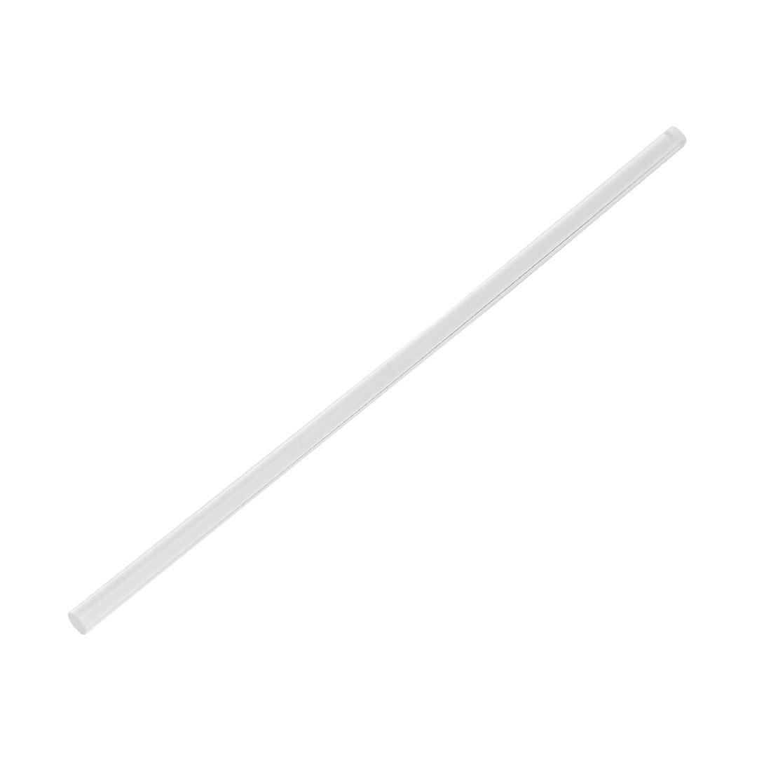 8mm Dia 10 Inch Long Soli Acrylic Round Rod PMMA Bar Clear