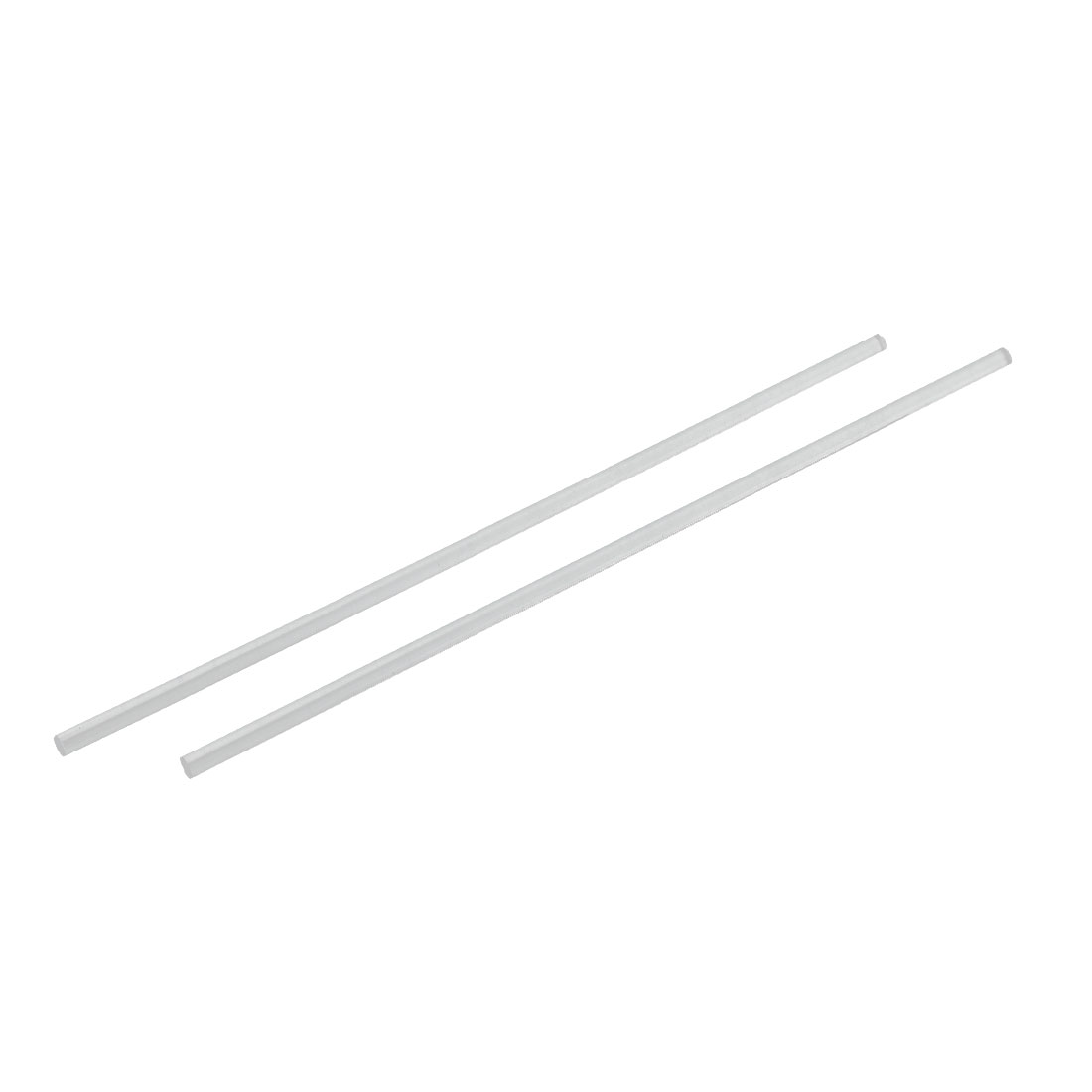 Solid Acrylic Round Rod PMMA Bar Clear 6mm Dia 10 Inch Long 2pcs