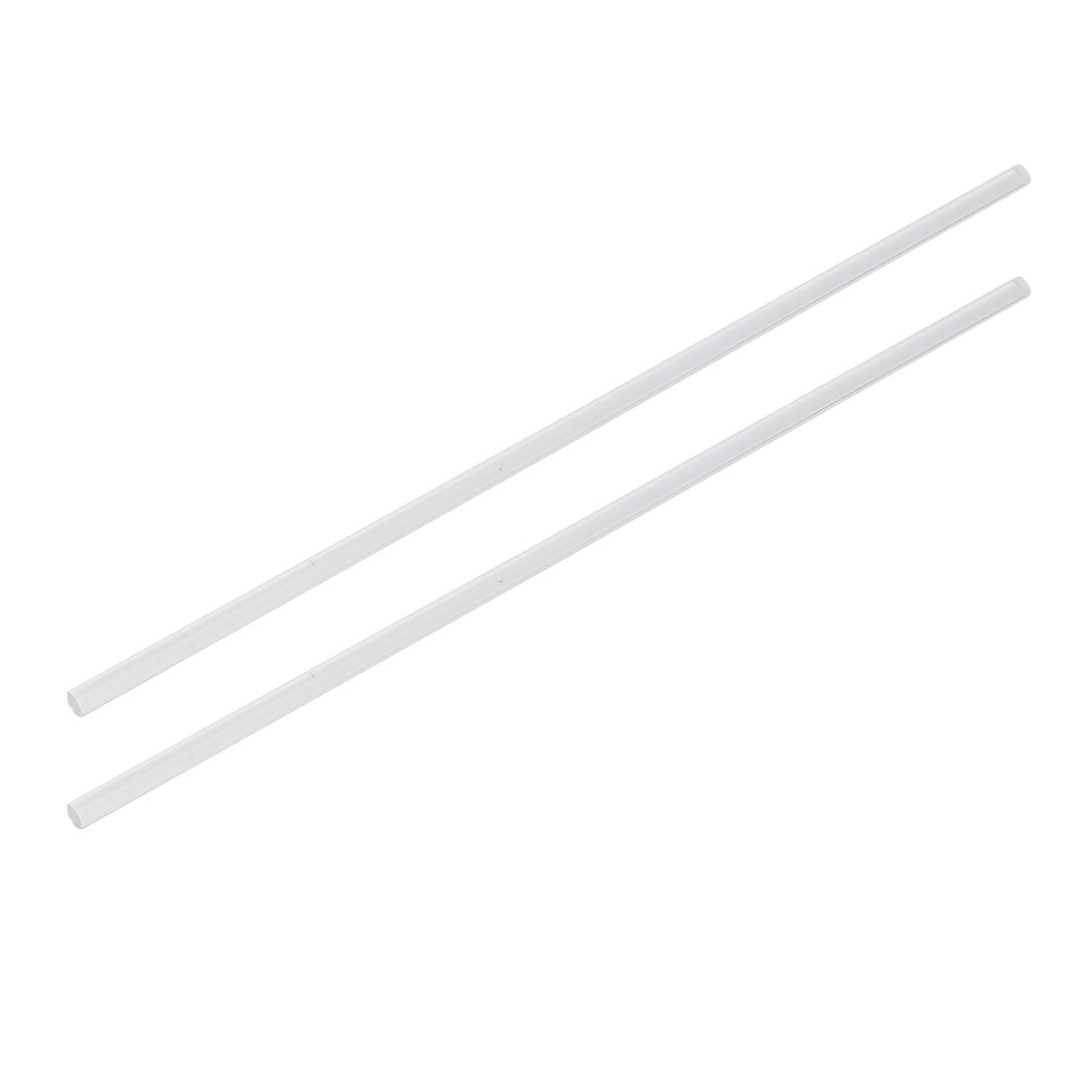5mm Dia 10 Inch Long Solid Acrylic Round Rod PMMA Bar Clear 2pcs