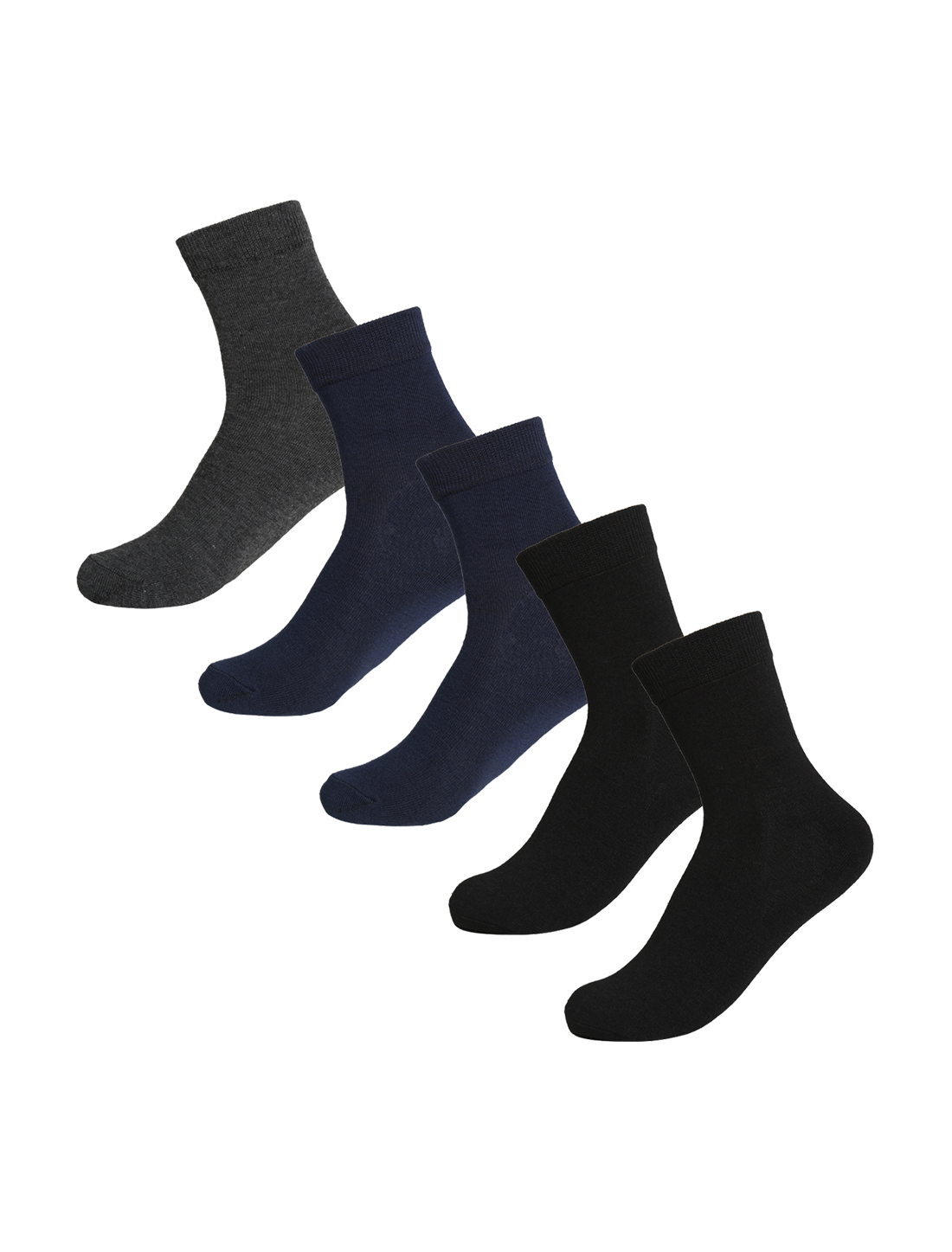 Men Stretchy Winter Thermal Crew Socks 10-12 5 Pack Assorted