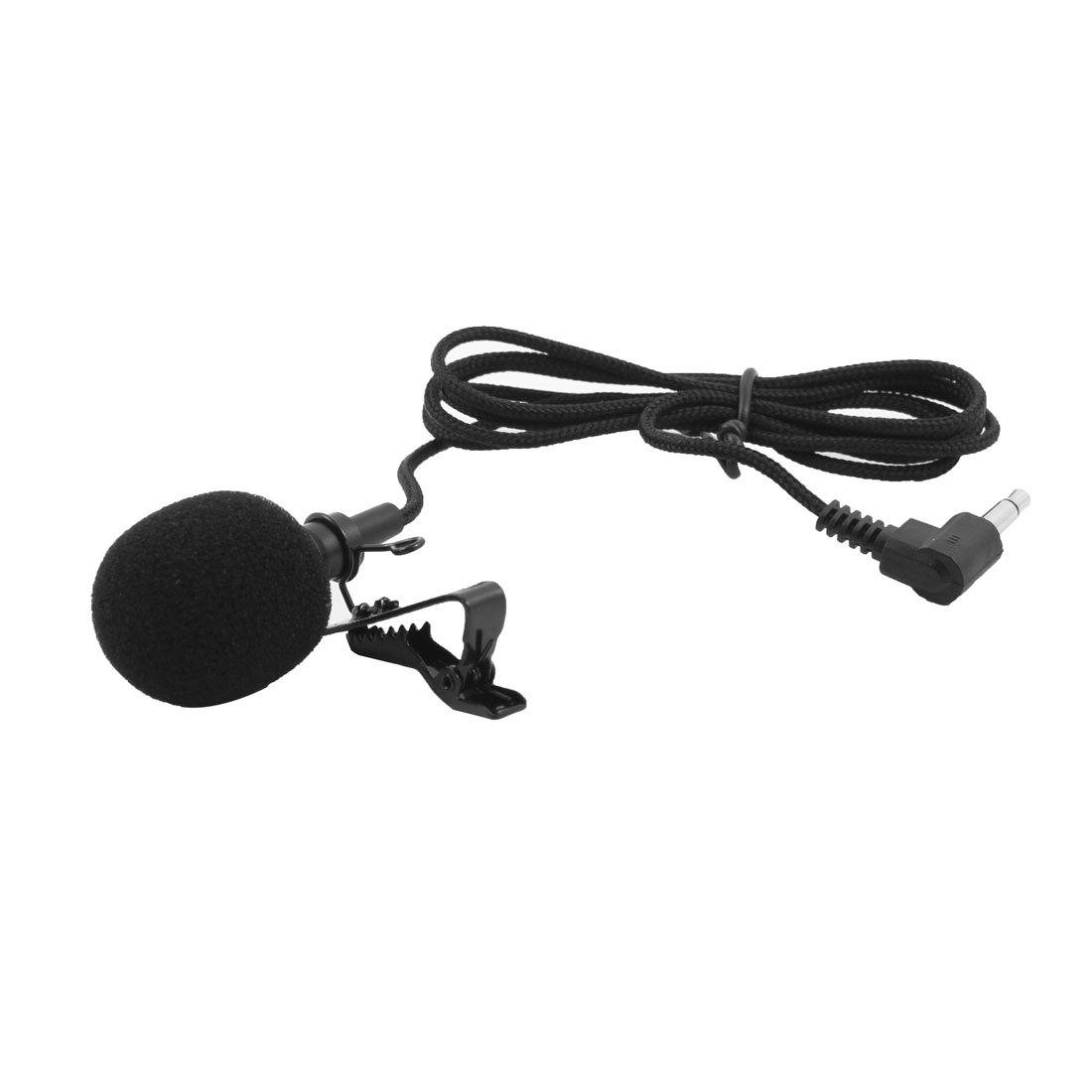 Teacher Computer 3.5mm Clip-on Condenser Earphone Lavalier Microphone 0.94M Long Black