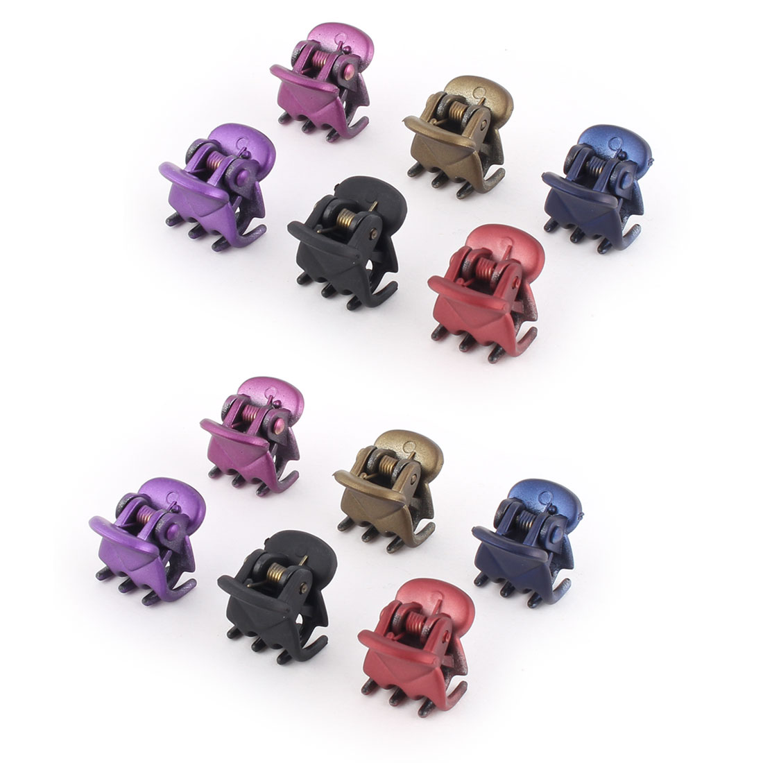Plastic Spring Loaded DIY Craft Hair Claw Clip Clamp Assorted Color 12 Pcs
