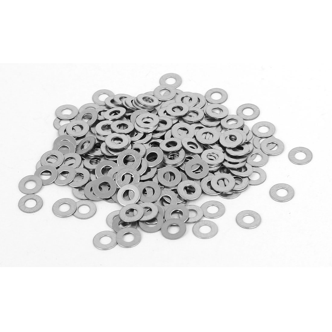 M2 304 Stainless Steel Flat Pads Washers Gaskets Silver Tone 300PCS
