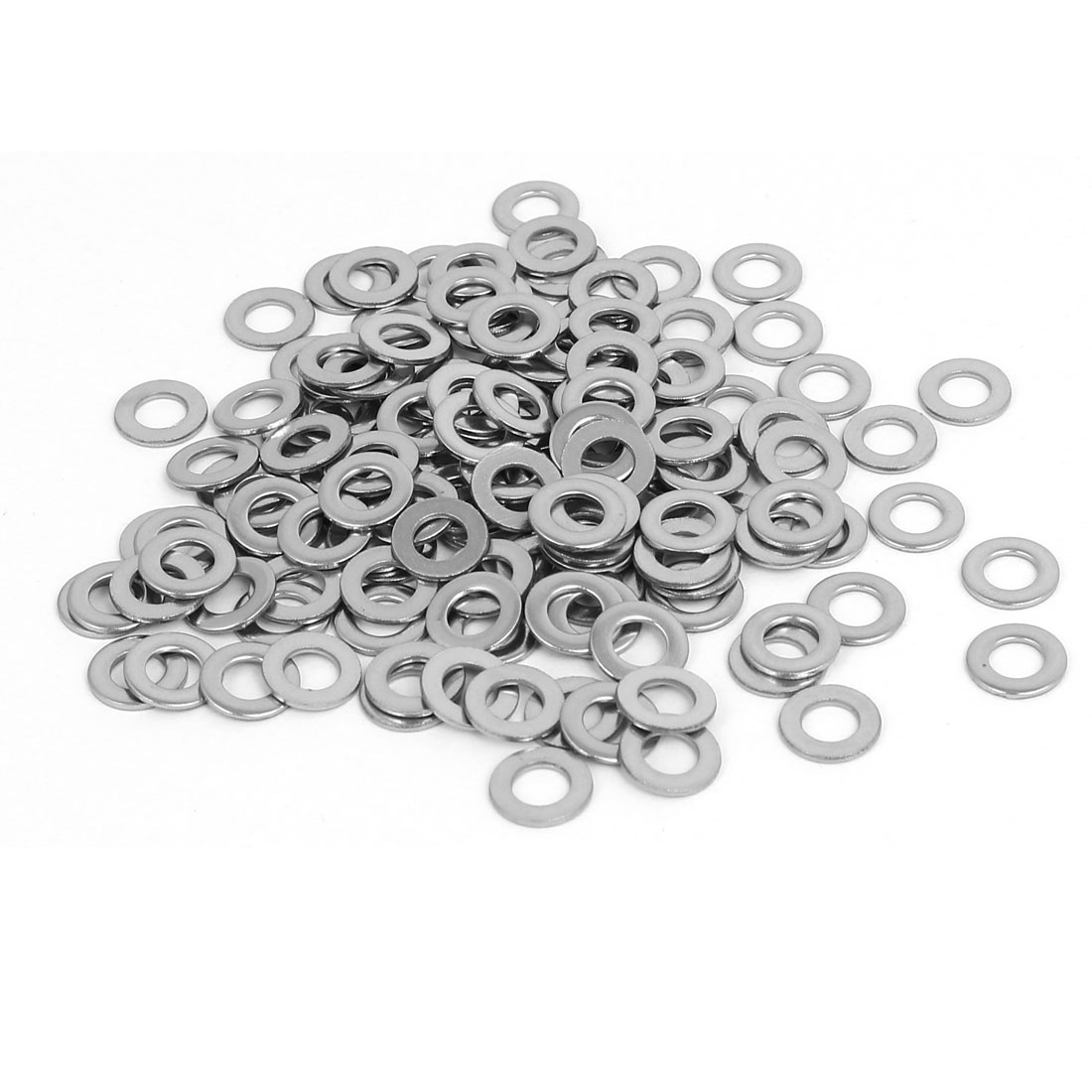 M5 304 Stainless Steel Flat Washers Gaskets Spacers Silver Tone 200PCS