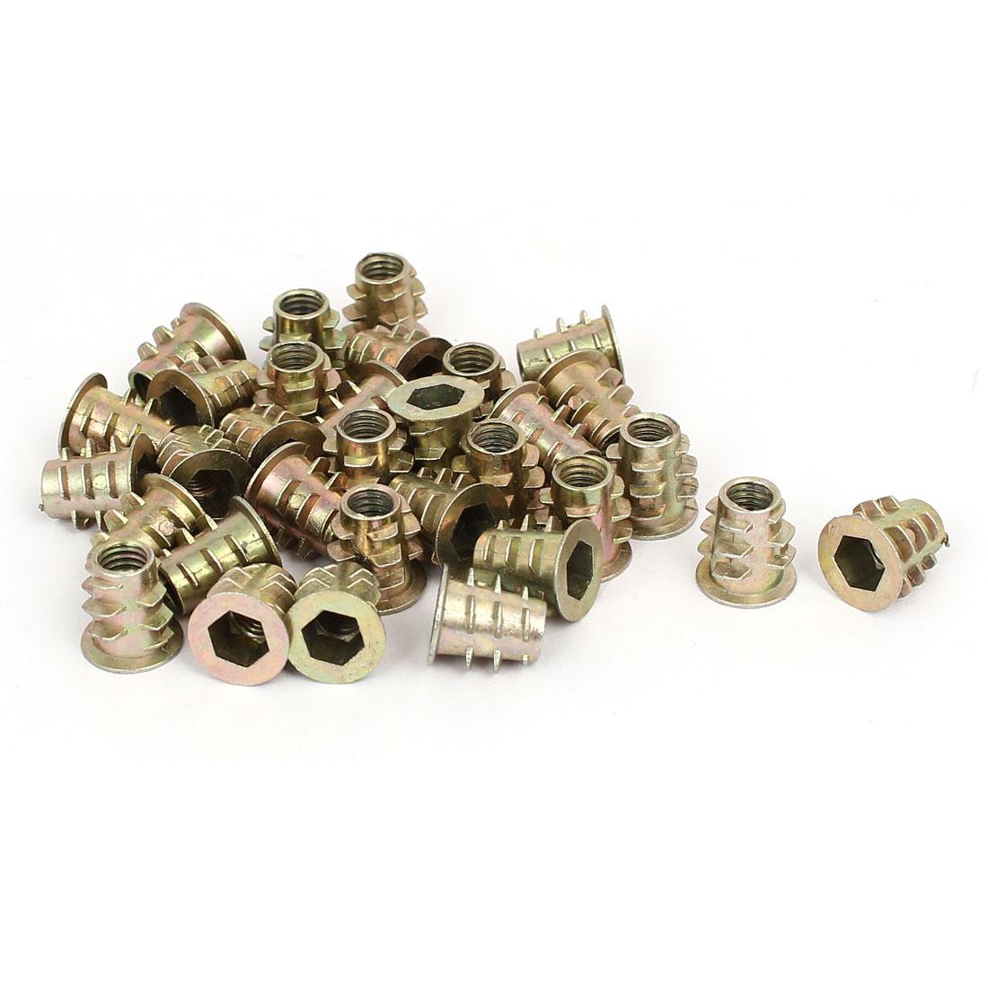 M5 x 10mm Hex Socket Head Insert Screws E-Nuts Furniture Fittings 30pcs