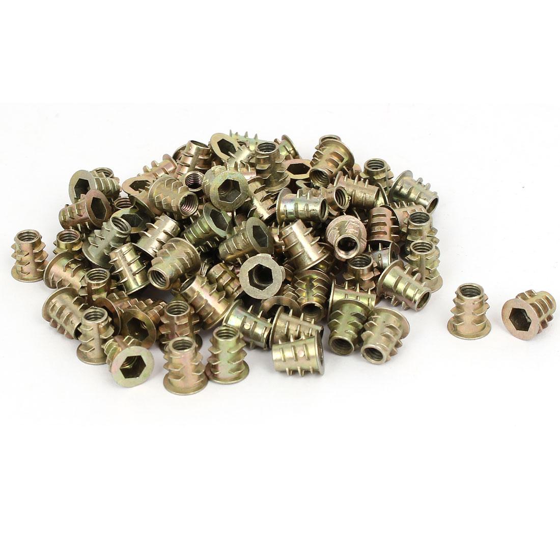 M5 x 10mm Hex Socket Head Insert Screws E-Nuts Furniture Fittings 100pcs