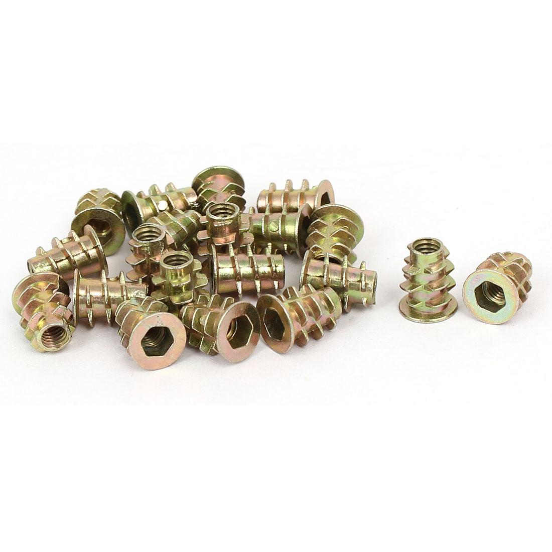 M4 x 10mm Hex Socket Head Insert Screws E-Nuts Furniture Fittings 20pcs