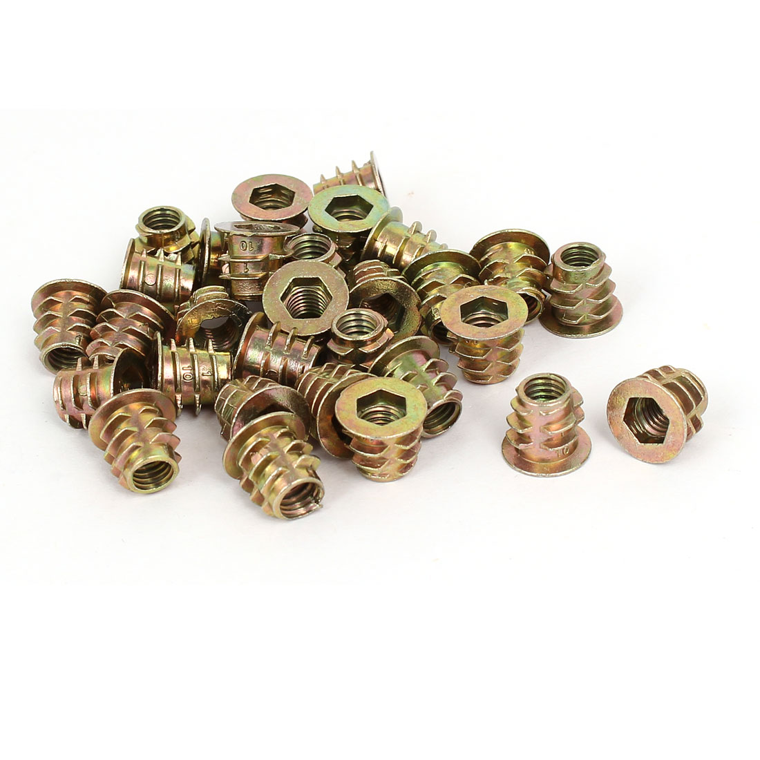 M6 x 10mm Hex Socket Head Insert Screws E-Nuts Furniture Fittings 30pcs