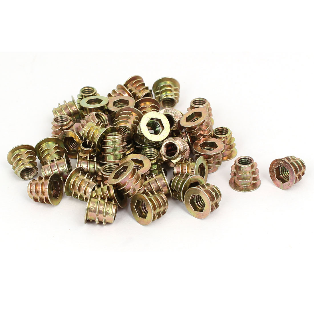 M6 x 10mm Hex Socket Head Insert Screws E-Nuts Furniture Fittings 50pcs