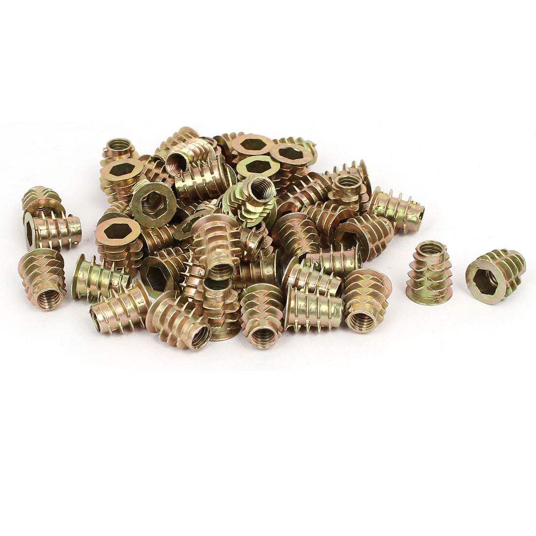 M6 x 13mm Hex Socket Head Insert Screws E-Nuts Furniture Fittings 50pcs
