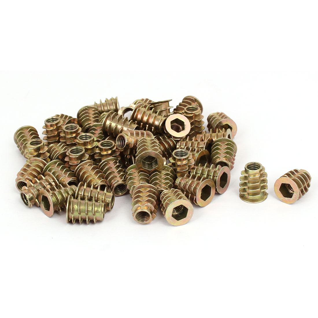 M6 x 15mm Hex Socket Head Insert Screws E-Nuts Furniture Fittings 50pcs
