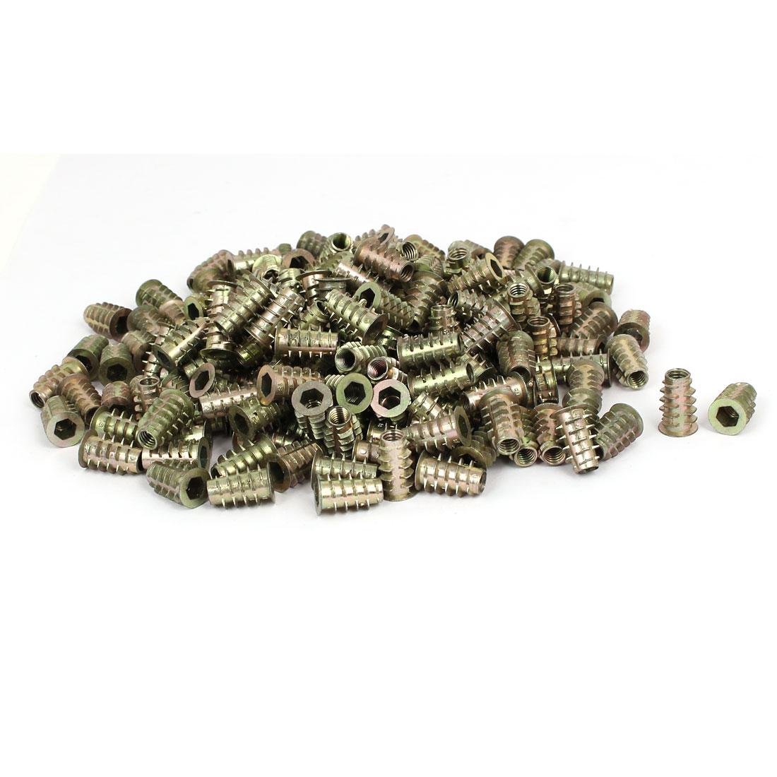 M6 x 18mm Hex Socket Head Insert Screws E-Nuts Furniture Fittings 200pcs