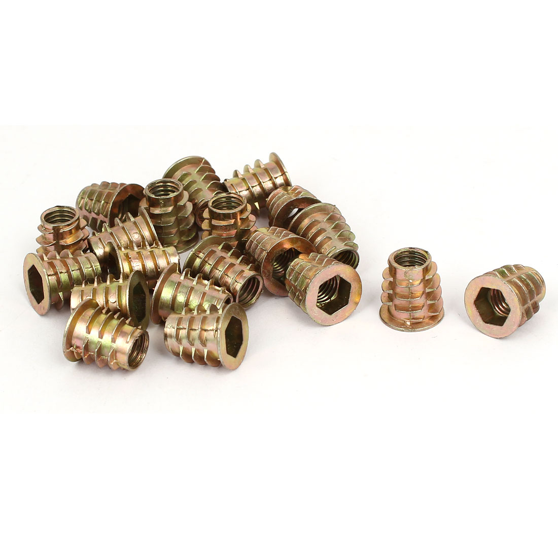 M8 x 15mm Hex Socket Head Insert Screws E-Nuts Furniture Fittings 20pcs