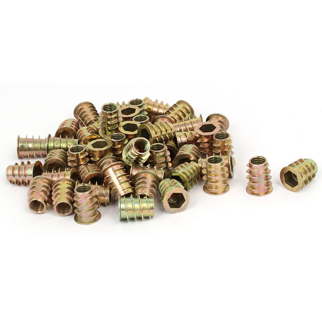 M8 x 18mm Hex Socket Head Insert Screws E-Nuts Furniture Fittings 50pcs