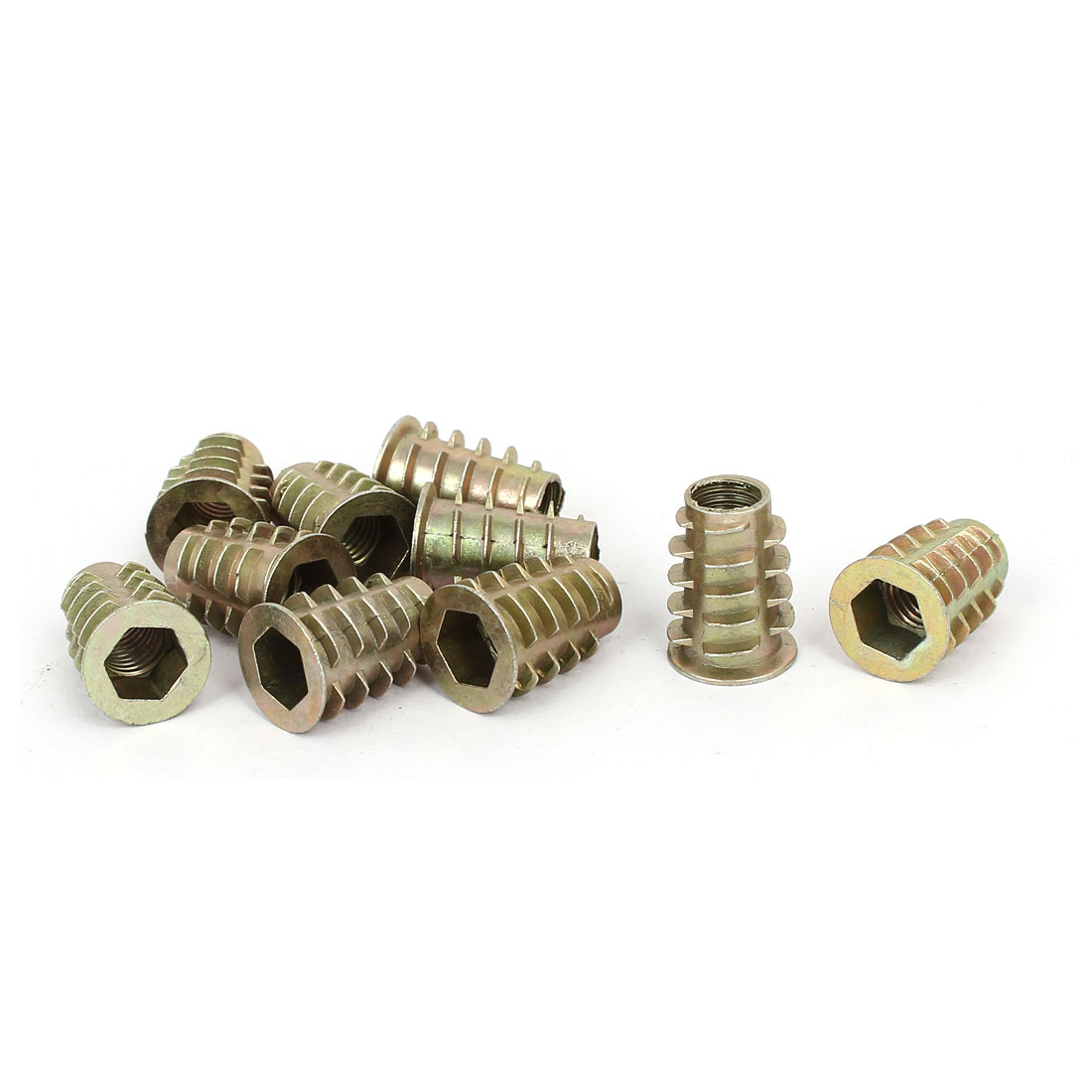 M8 x 20mm Hex Socket Head Insert Screws E-Nuts Furniture Fittings 10pcs