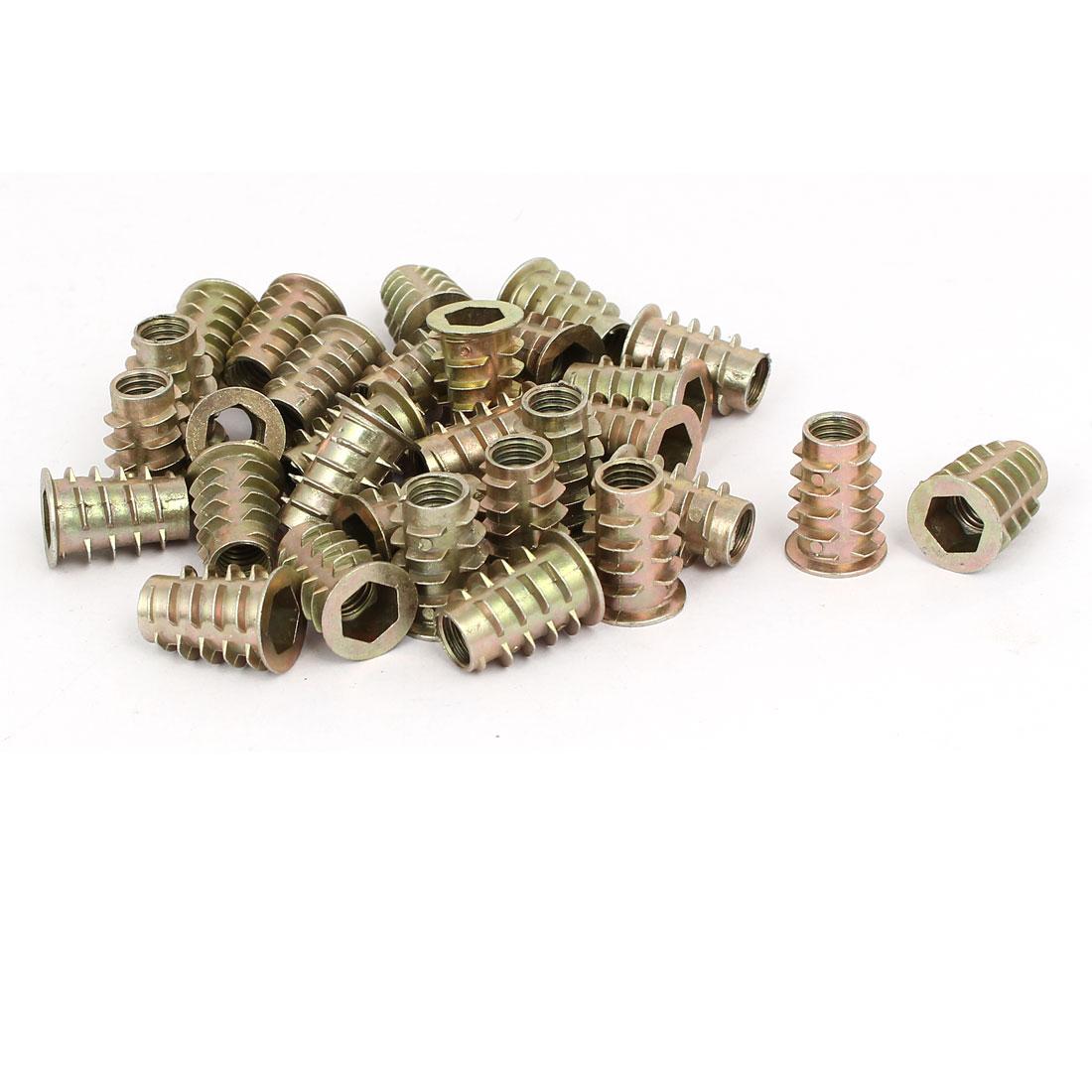 M8 x 20mm Hex Socket Head Insert Screws E-Nuts Furniture Fittings 30pcs