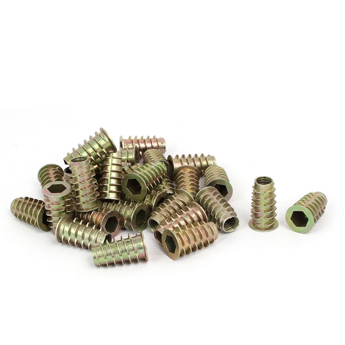 M8 x 25mm Hex Socket Head Insert Screws E-Nuts Furniture Fittings 30pcs
