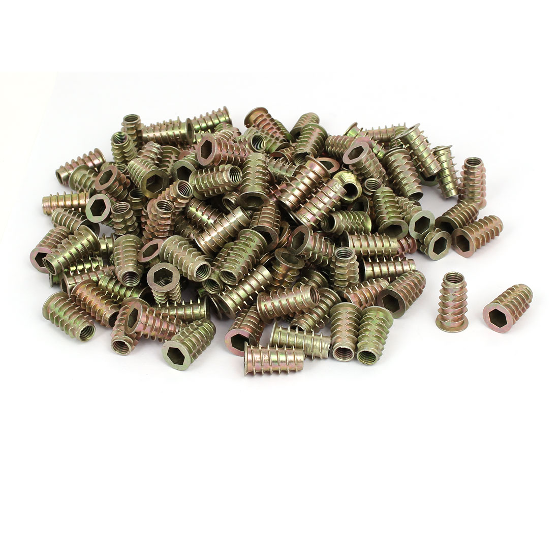 M8 x 25mm Hex Socket Head Insert Screws E-Nuts Furniture Fittings 200pcs