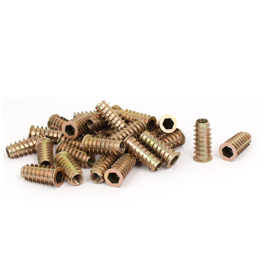 M8 x 30mm Hex Socket Head Insert Screws E-Nuts Furniture Fittings 30pcs
