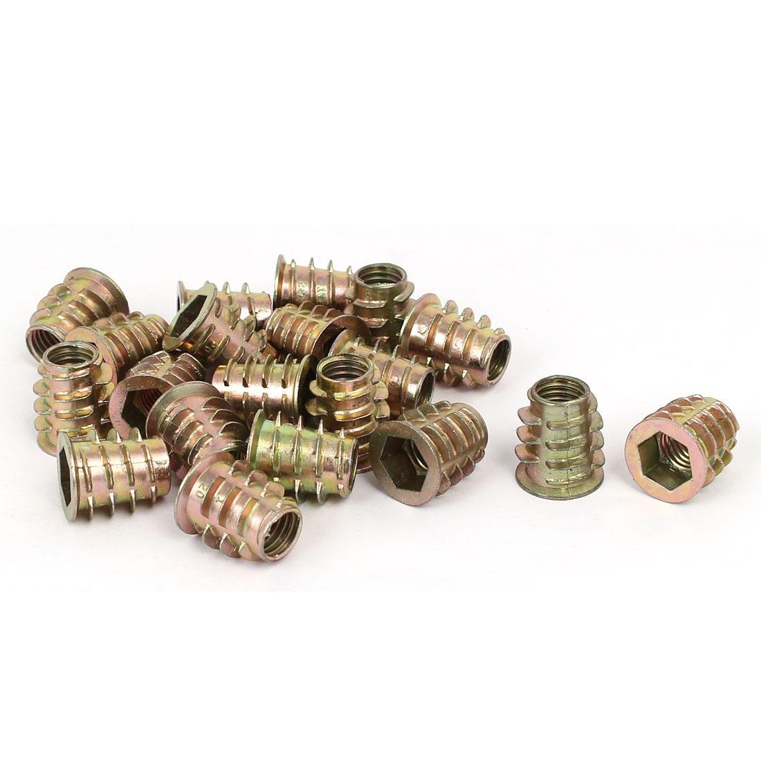 M10 x 20mm Hex Socket Head Insert Screws E-Nuts Furniture Fittings 20pcs