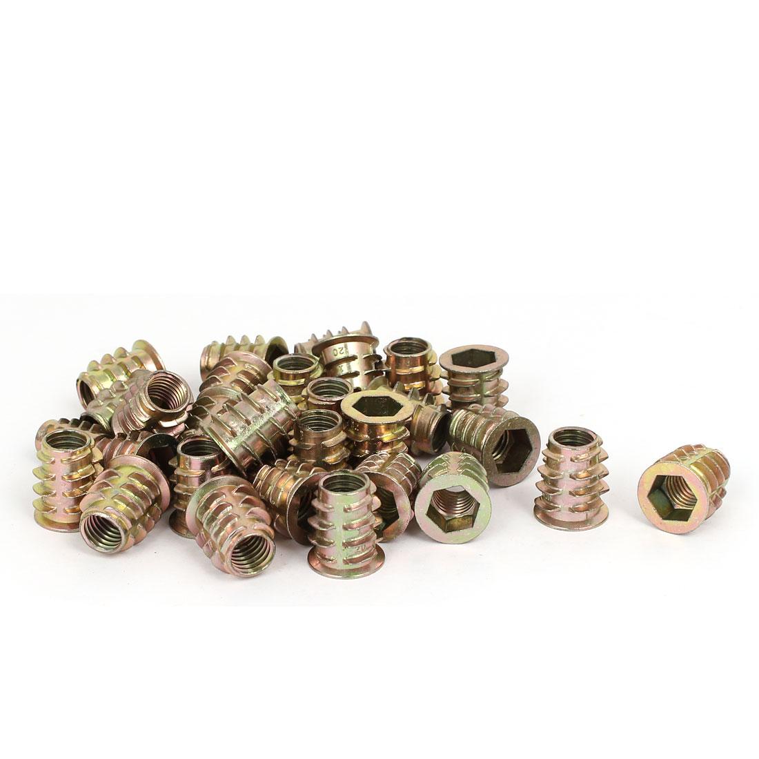 M10 x 20mm Hex Socket Head Insert Screws E-Nuts Furniture Fittings 30pcs